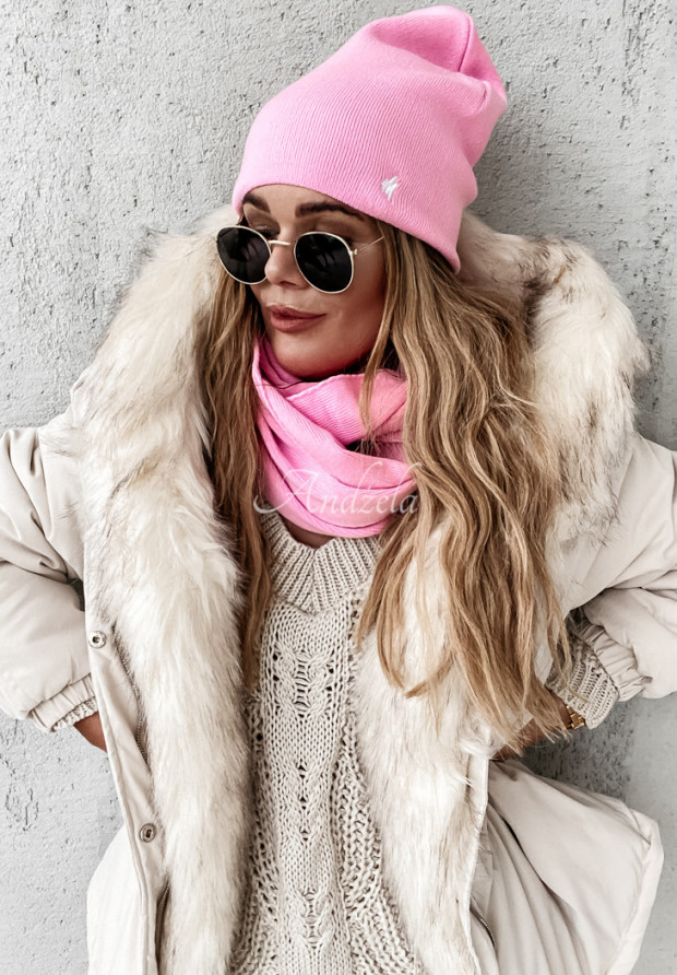 Čiapka Foggy Pink