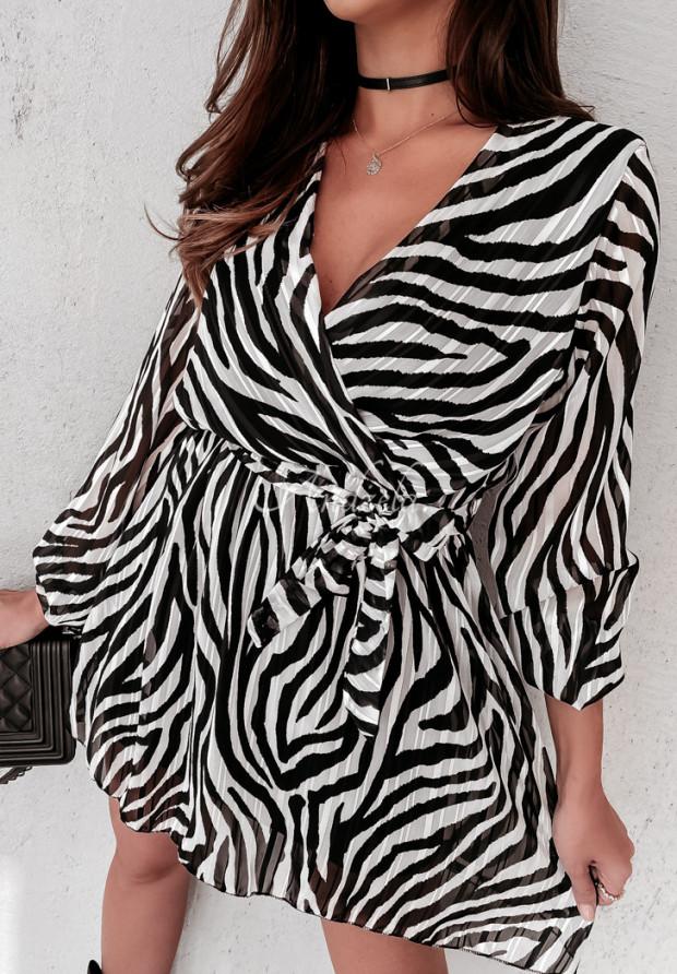 Šaty Mandy Zebra Black&White