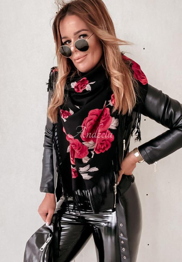 Šatky Roses Black