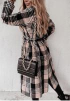 Kabát Káro Prinne Black&Camel