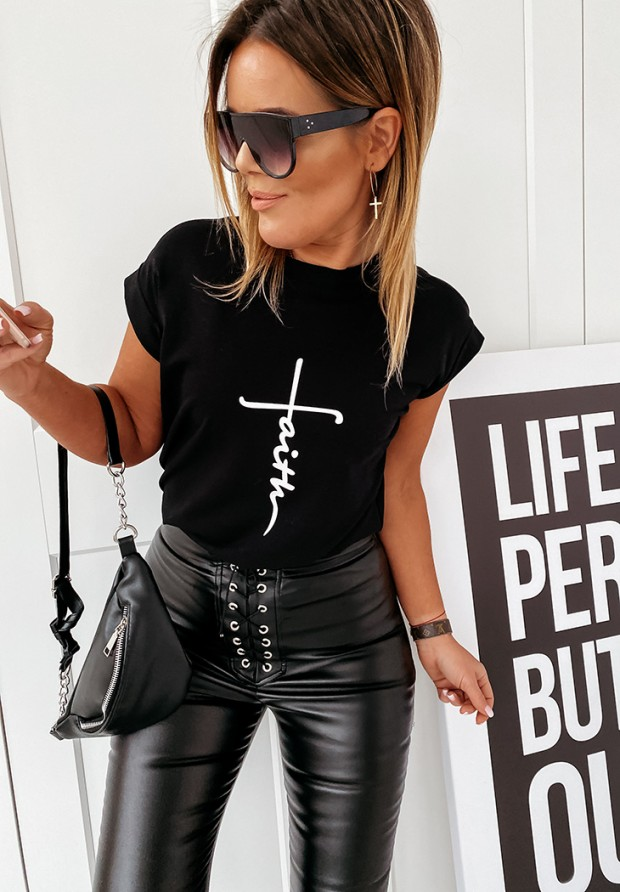 T-shirt Faith Black