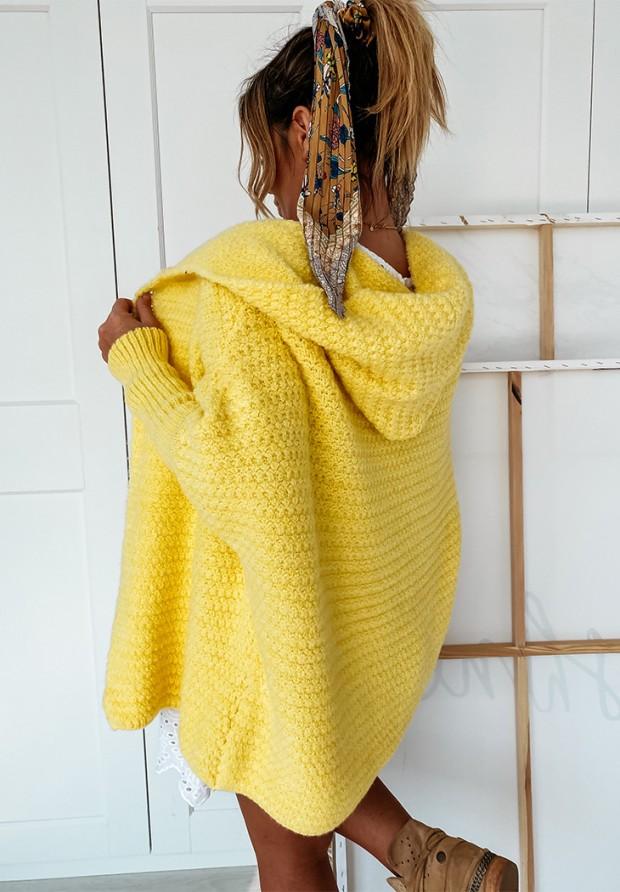 Sweter Kardigan Cocomore Amber Yellow