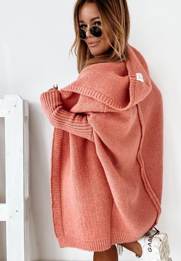 Sweter Kardigan Montemare Coral