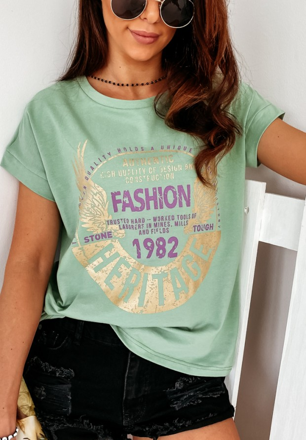 T-shirt Heritage Green